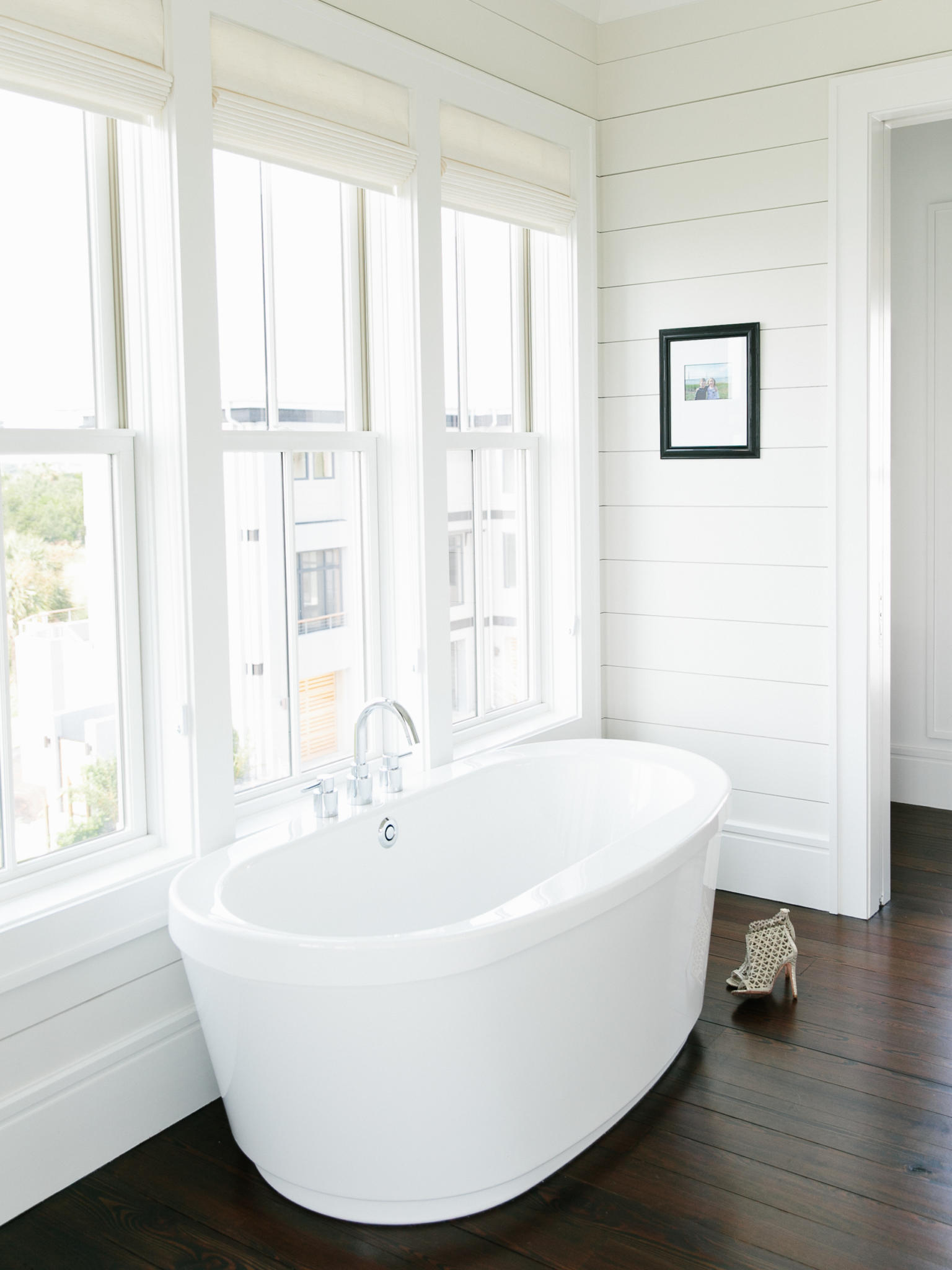 custom bath at new Charleston home