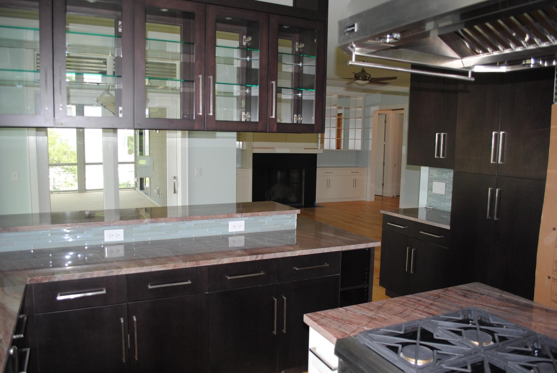 custom kitchen in new Charleston home