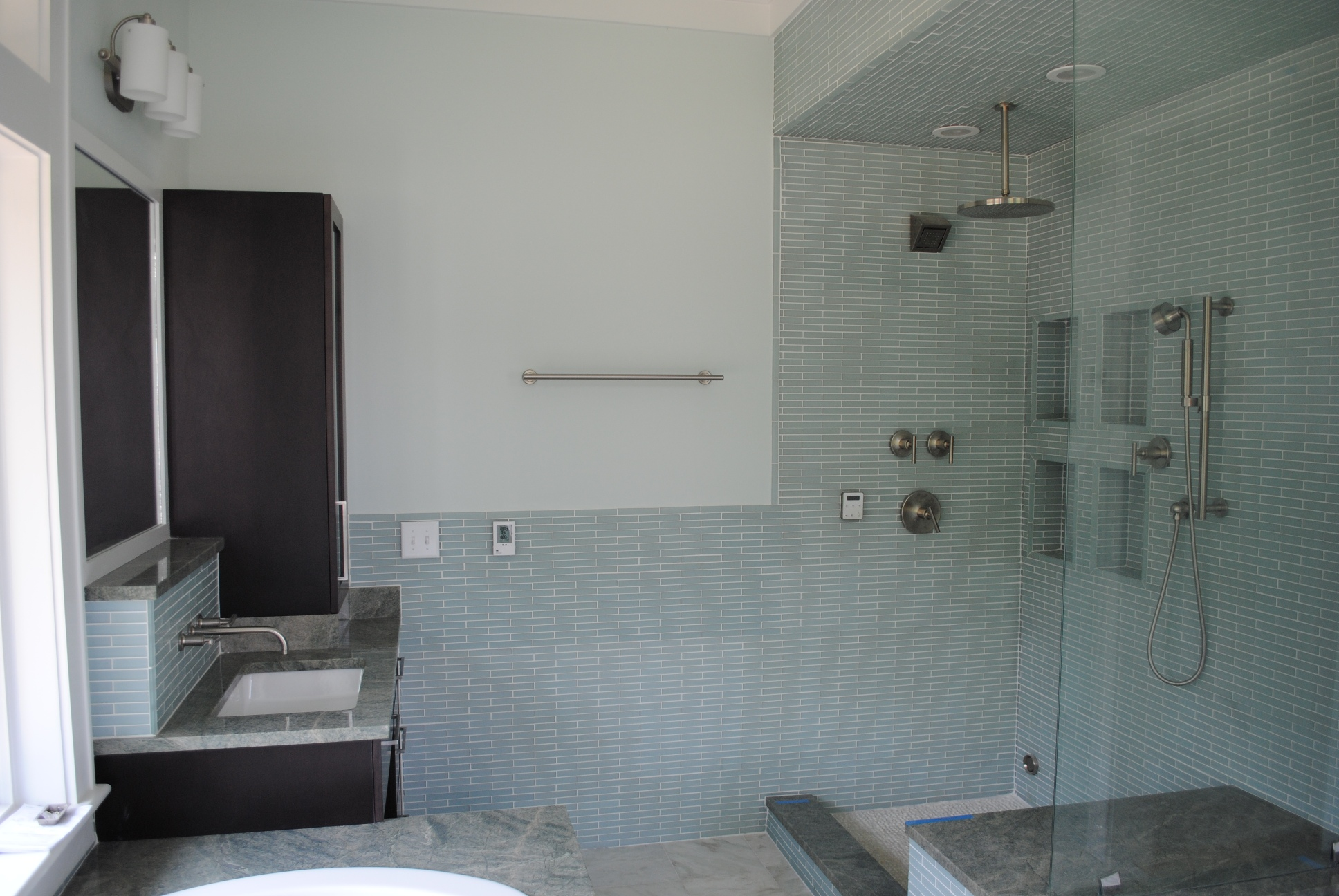 bathroom in new home by Madigan Projects