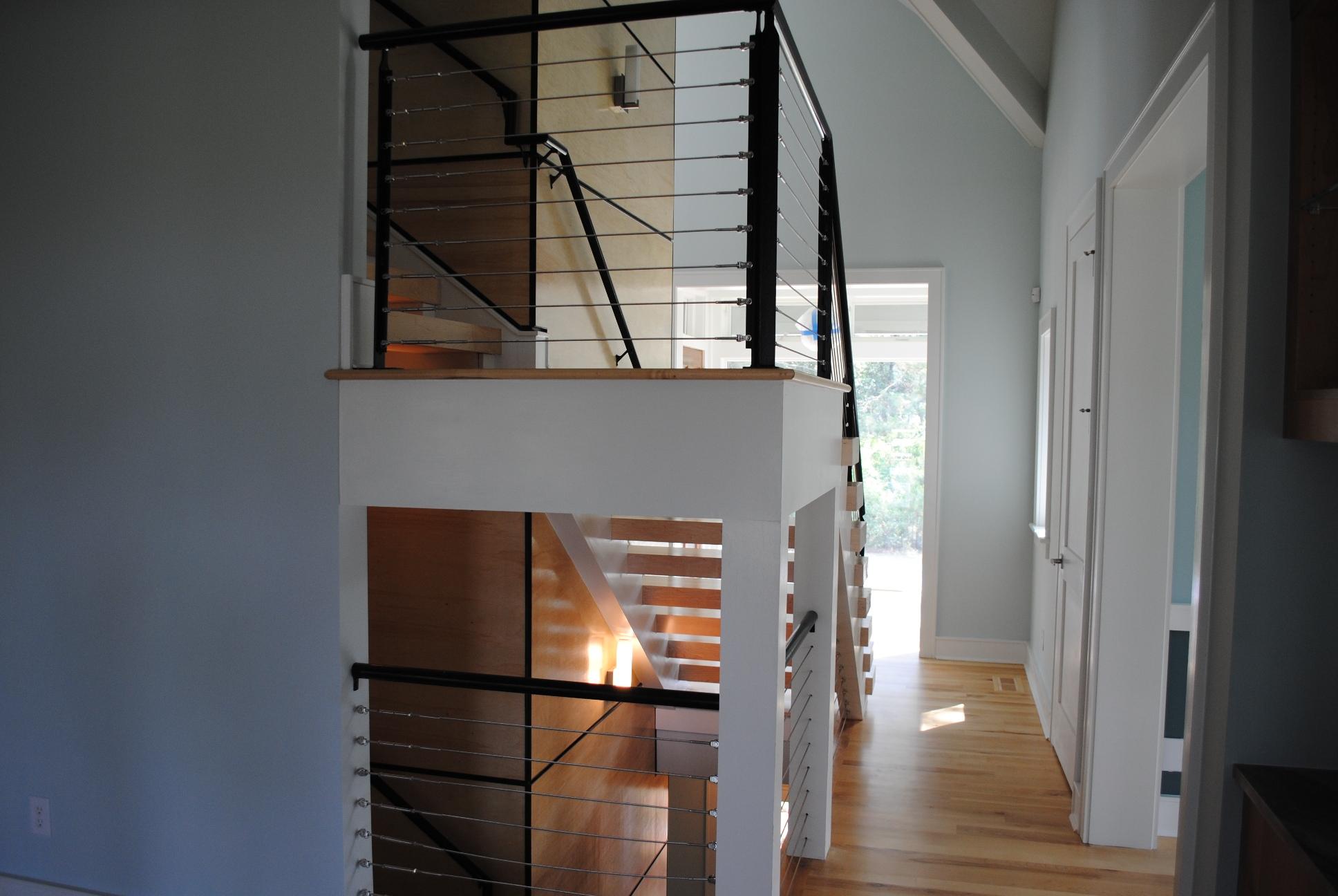 interior of custom home in Charleston