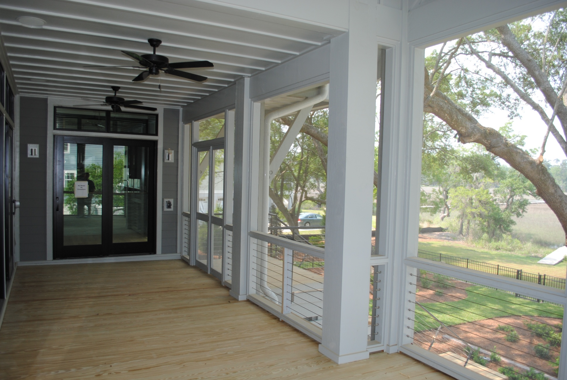 porch of custom home by Madigan Projects