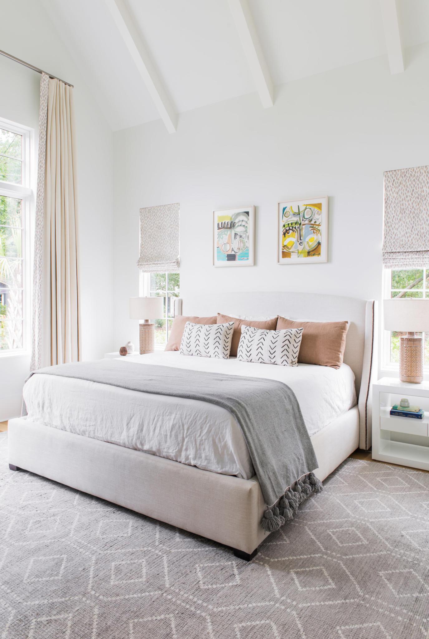 bedroom of new Mount Pleasant home