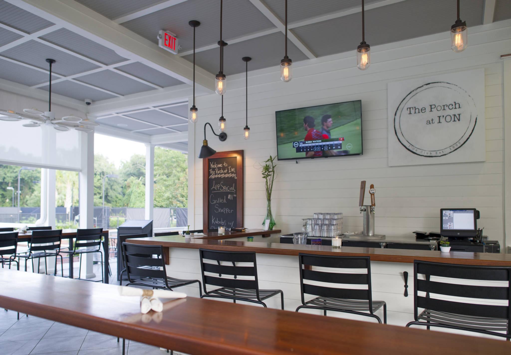 The Porch custom restaurant at Ion complex