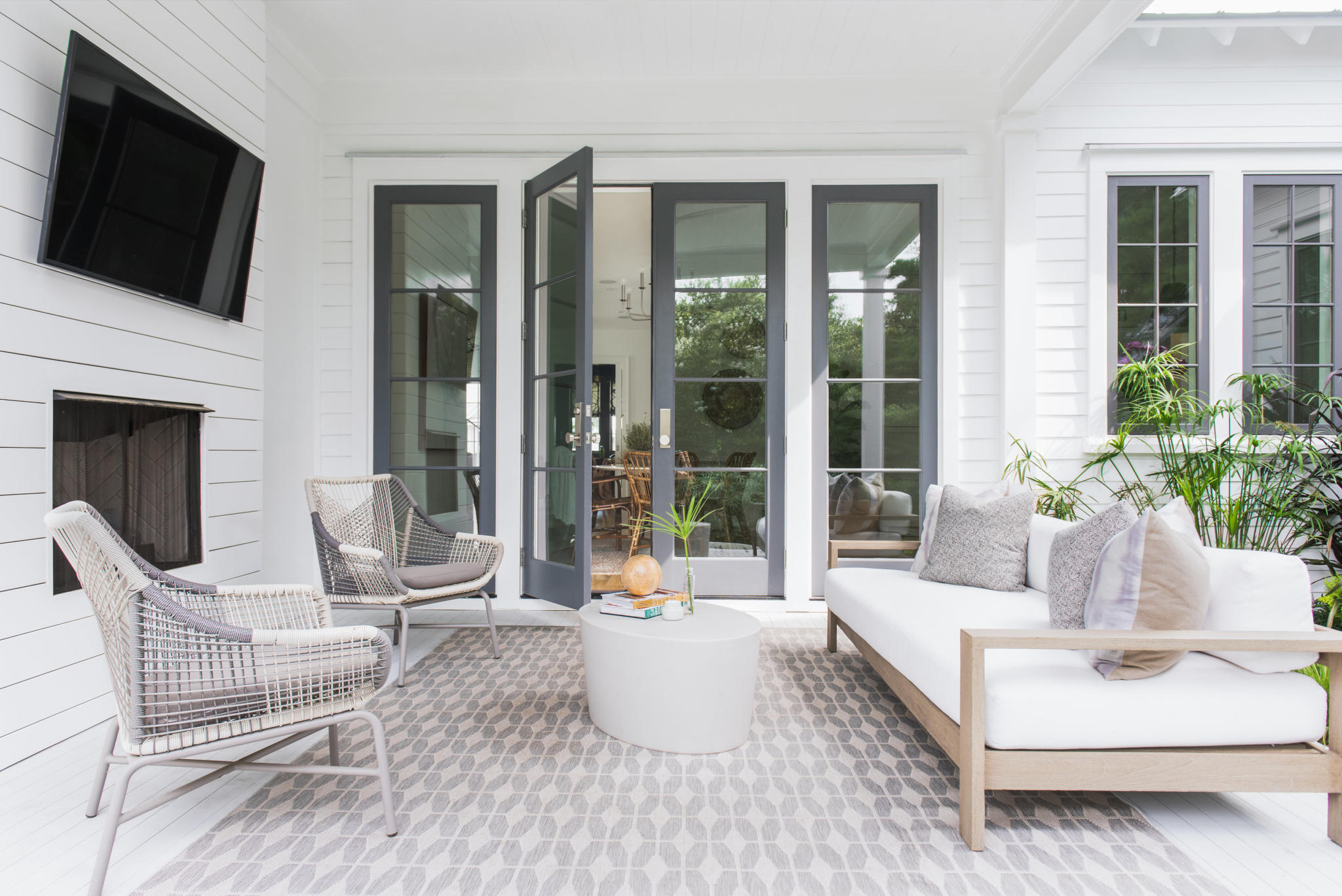 porch at custom Mount Pleasant home