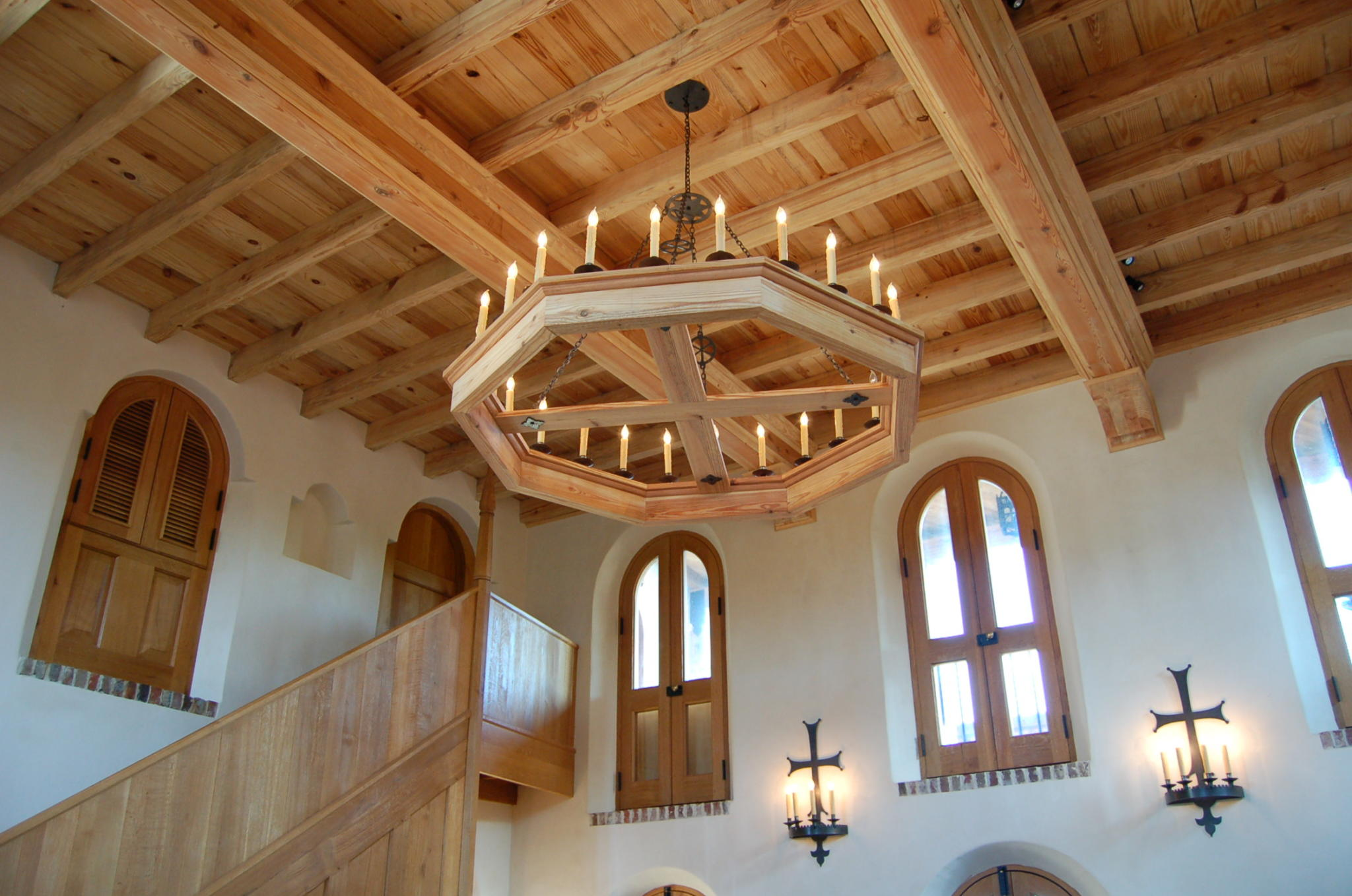 ornate wood ceiling by Madigan Projects