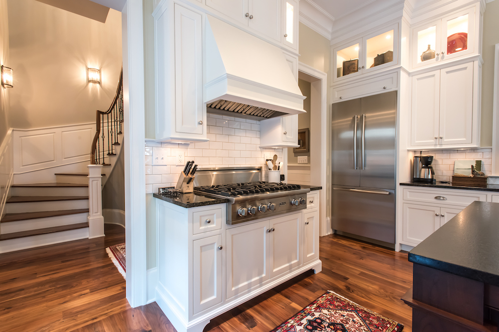 custom kitchen in new home by Madigan Projects