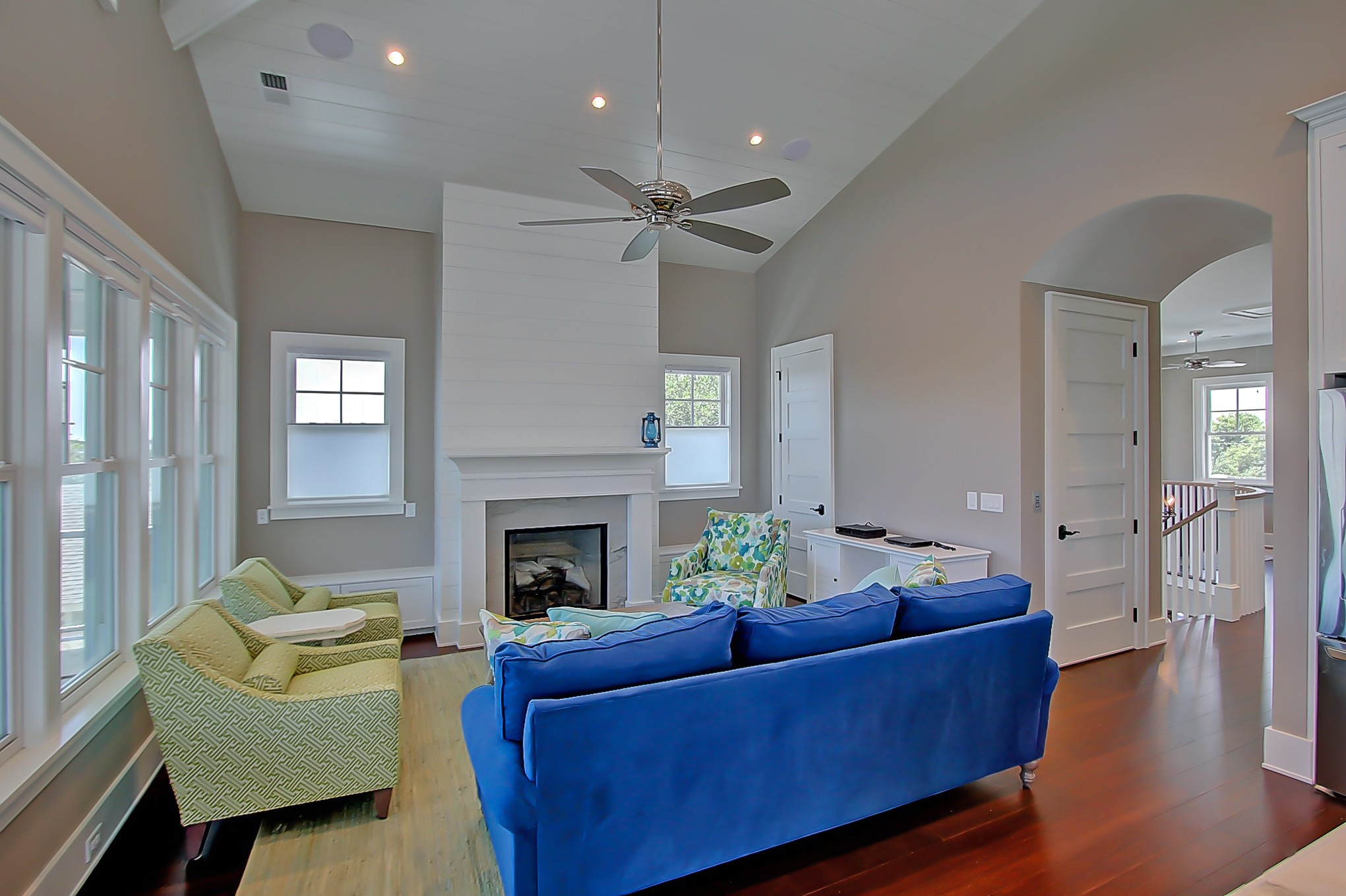 living room in new home on Isle of Palms