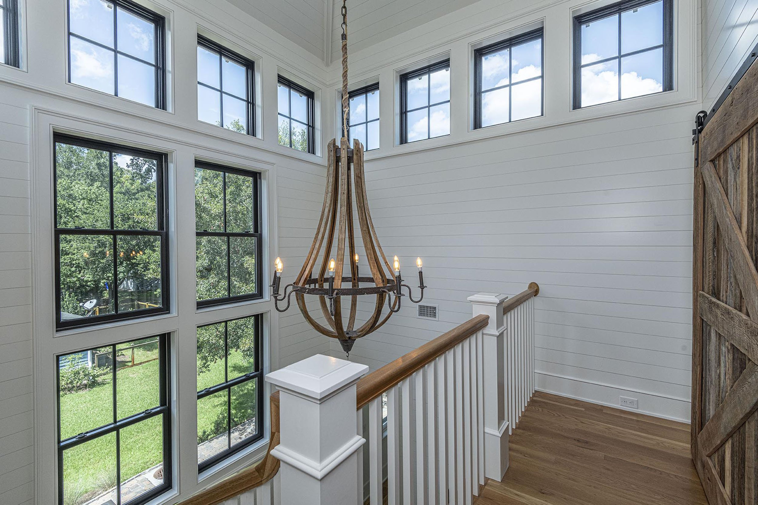 upstairs interior of new custom home in Old Village