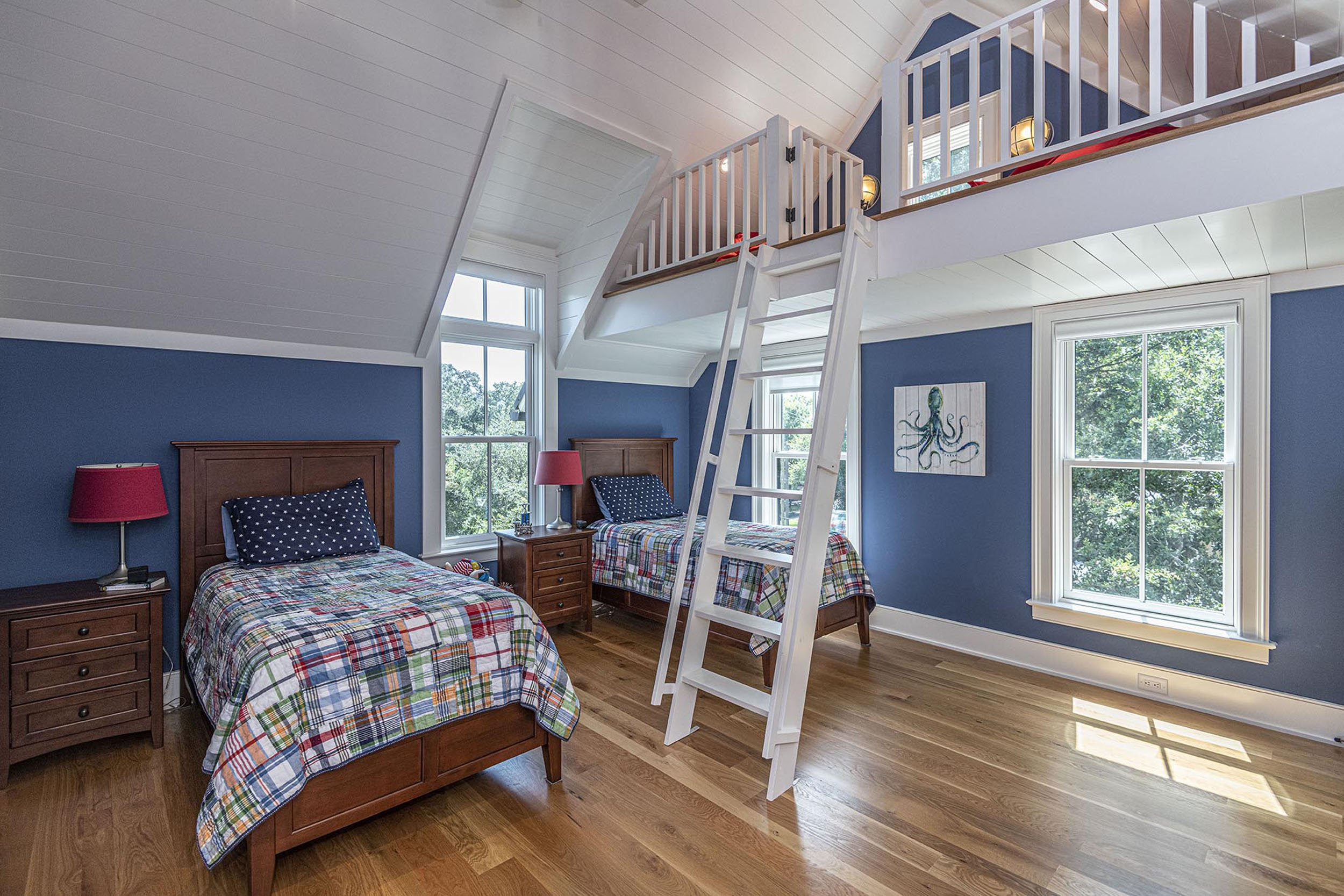 custom children's bedroom with loft in Madigan Projects newly built home