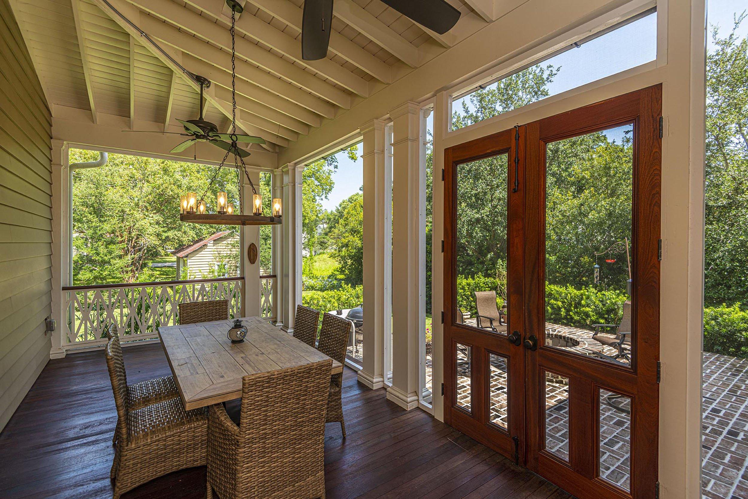 beautiful custom enclosed porch at new home