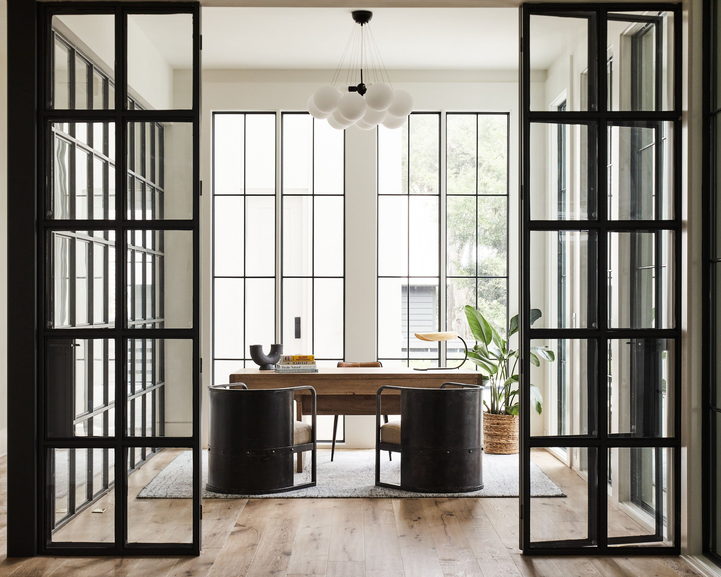 elegant custom office space in new home by Madigan Projects